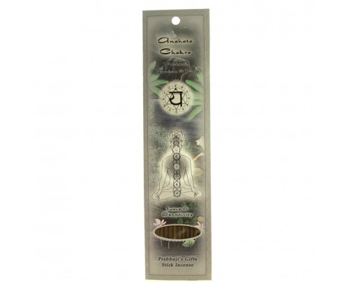 Prabhuji's Gifts Stick Incense Anahata Heart Chakra Love & Sensitivity Patchouli, Geranium & Rose 10 Sticks