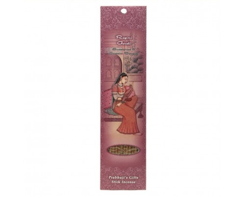 Prabhuji's Gifts Stick Incense Ragini Gaudi Pure Love Sweetgrass & Eastern Bouquet 10 Sticks