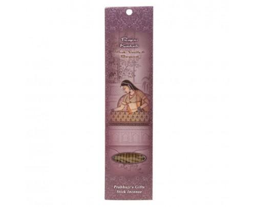 Prabhuji's Gifts Stick Incense Ragini Kachaili Transcendence Musk, Vanilla & Bergamot 10 Sticks