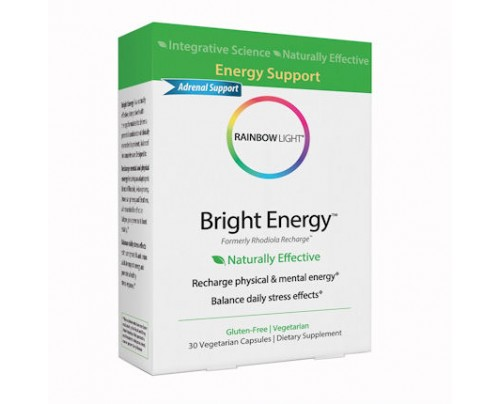 Rainbow Light Bright Energy 30 Vegetarian Capsules formerly Rhodiola Recharge