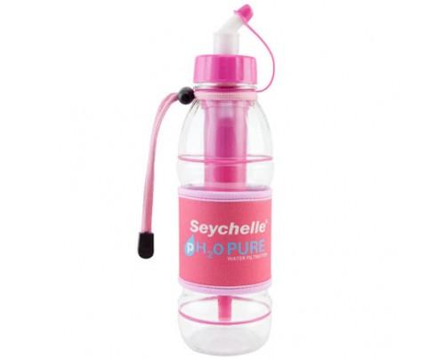 Seychelle Environmental Technologies pH2O PURWATER Alkaline Water Filter Sports Bottle Pink 20 fl. oz.