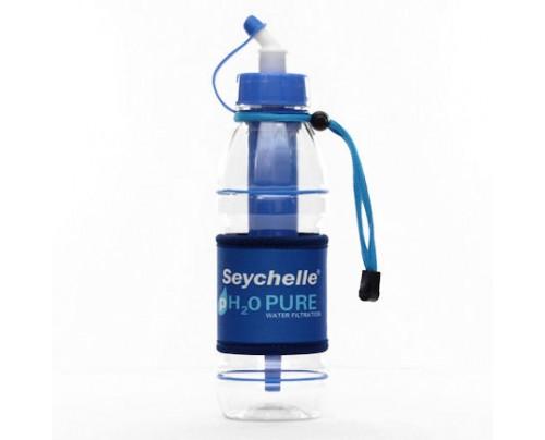 Seychelle Environmental Technologies pH2O PURWATER Alkaline Water Filter Sports Bottle Blue 20 fl. oz.
