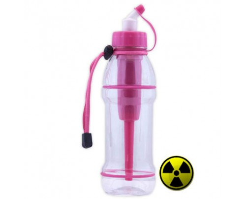 Seychelle Environmental Technologies Radiation Water Filter Sports Bottle Pink 20 fl. oz.