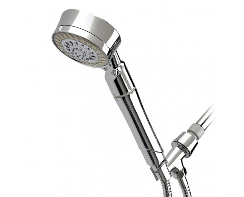 Sprite Industries Cascading Contemporary 5-Way Hand-Held Shower Filter Chrome