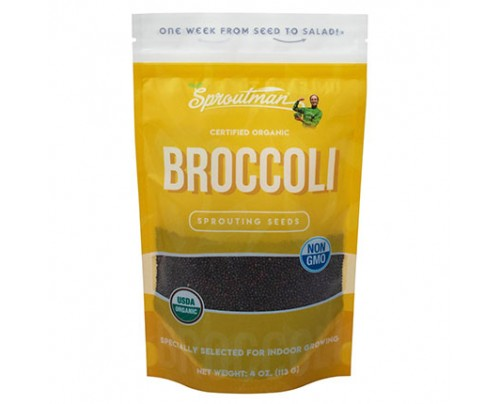 Sproutman Broccoli Organic Sprouting Seeds 4 oz.