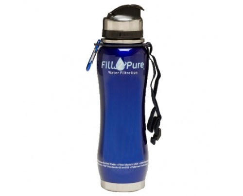 Seychelle Environmental Technologies Fill2Pure Stainless Steel Bottle Alkaline Water pH Replacement Filter 27 fl. oz. (Outside Threads)