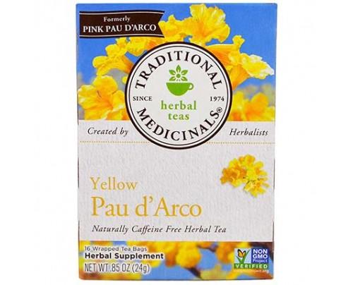 Traditional Medicinals Pau d'Arco Tea Yellow 16 Tea Bags