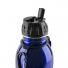 Seychelle pH2O Purewater Stainless Steel Alkaline pH Water Filter Bottle Blue 27 fl. oz. Cap Close Up