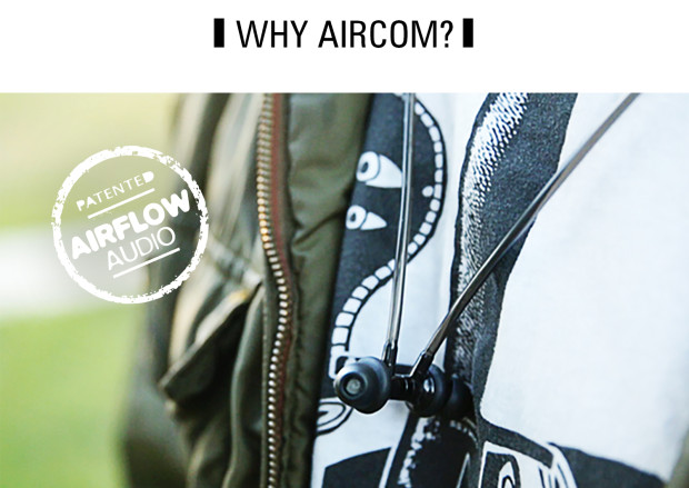 Aircom Audio A3b Wireless Stereo Hands Free Headset with Mircro Earbuds Magnets Clicked