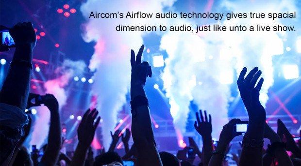 Aircom Audio A3b Wireless Stereo Hands Free Headset with Mircro Earbuds Rock