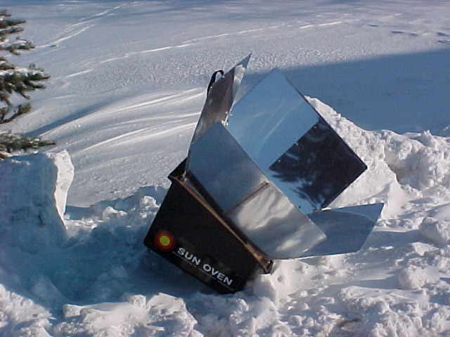 Solar Cooking in the Winter with a Sun Oven