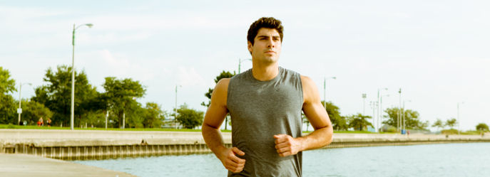 Vital Proteins Man Jogging