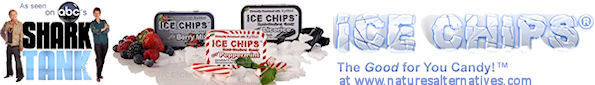Ice Chips Candy as Seen on ABC Shark Tank - Natural Xylitol Ice Chips Candy - Diabetic Alternative Sweetened Candy