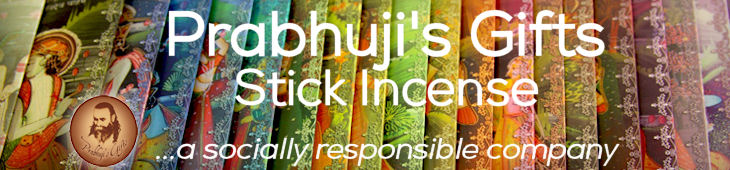 Prabhuji's Gifts Stick Incense. A Socially Responsible Company