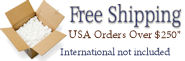 FREE SHIPPING on all USA orders over $250!